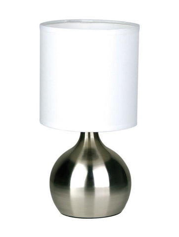 Lotti Touch Lamp with Fabric Drum Shade