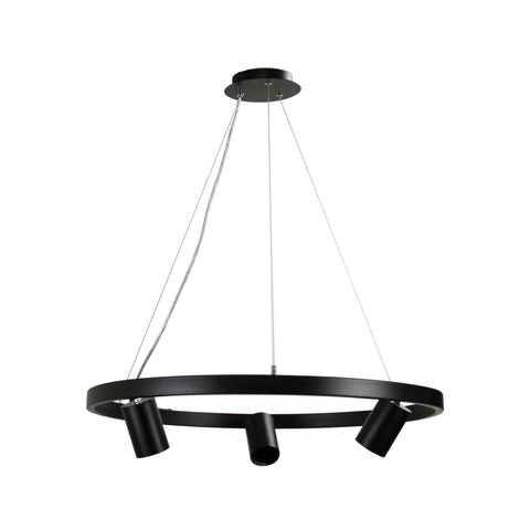 Pano 3lt Hanging Round Halo Ring Spotlight Pendant Light