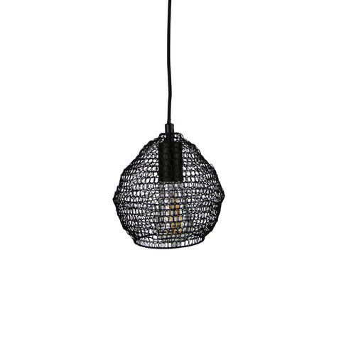 Madag Metal Meshique Mesh 1lt Pendant Light Black
