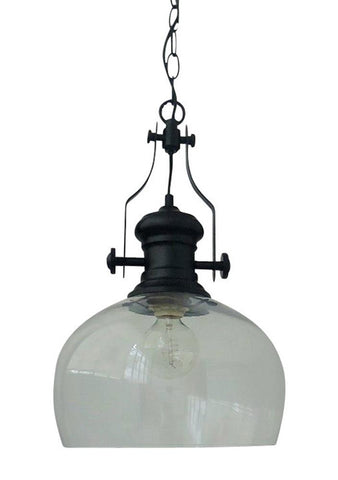 Toongabbie P1757 1lt Clear Glass Hampton's Pendant Light