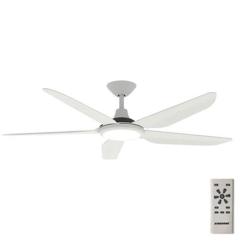Airborne Storm 5 Blade ABS 52'' 1300mm DC Remote Control Ceiling Fan with LED Light