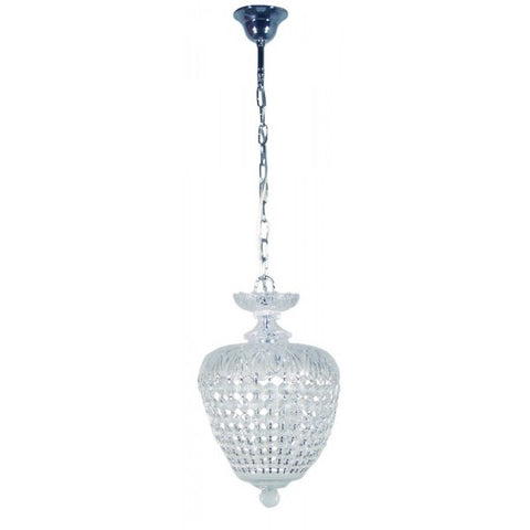 Chopin Crystal Basket Chandelier Chrome/Clear