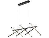 Metrix LED Pendant Light Adjustable Bar Matt Black/Warm White