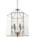 Arcadia 6 Panel Clear Glass Hamptons Lantern Pendant Light