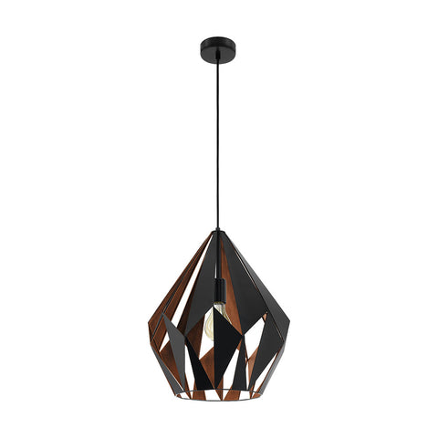 Carlton 1 385mm 1lt Metal Pendant Light