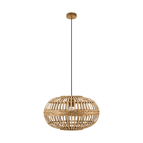 Amsfield 1lt Oval Basket Pendant Light Natural