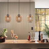 Bordesley Rattan Woven Wood Pendant Light