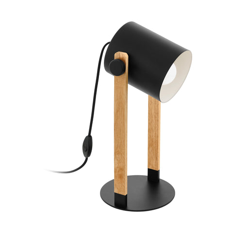 Hornwood Table Lamp Oak Timber/Black