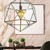 Lazlo 1lt Pendant Light Antique Brass/Clear Glass
