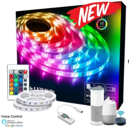 SMART Wi-Fi RGB Colour Changing DIY LED Tape Strip Light Kit