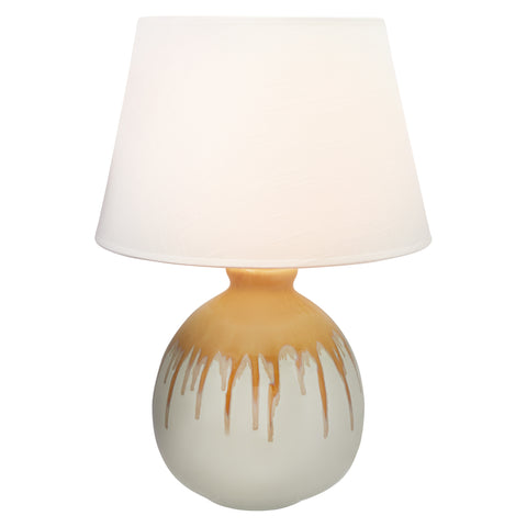 Candy Ceramic Table Lamp with White Drum Shade