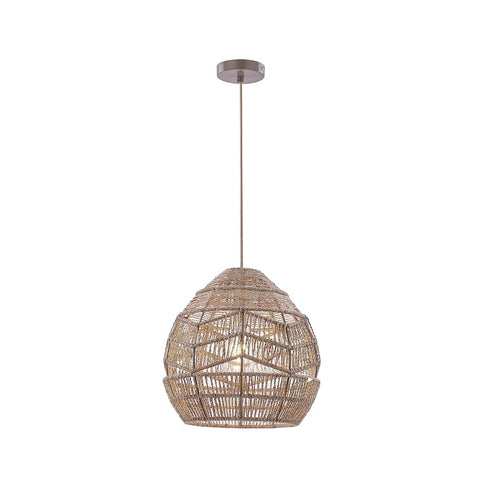 Tilda 1lt Natural Hemp Rope Pendant Light