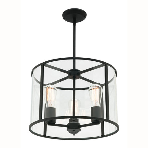 Liverpool Pendant Light Black/Clear