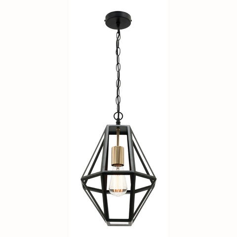 Prisma Pendant Light Black/Brushed Brass