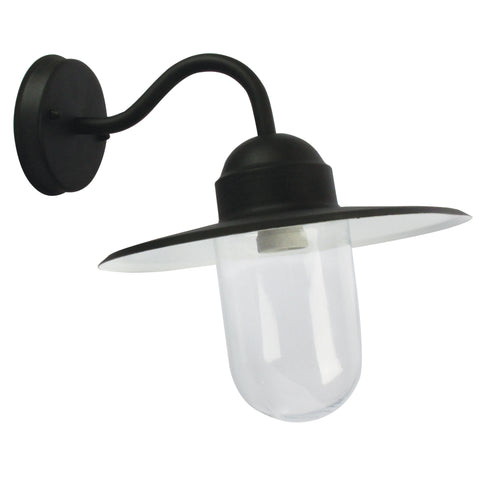 Alley Metal Wall Exterior Light with Clear Glass