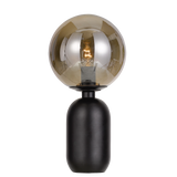 Kade Metal Table Lamp with Round Ball Glass Shade