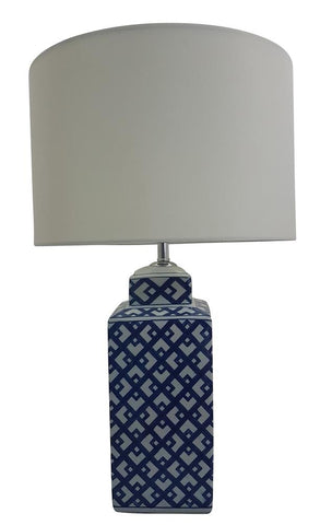 Toongabbie TL1843 Square Hampton's Table Lamp and Shade