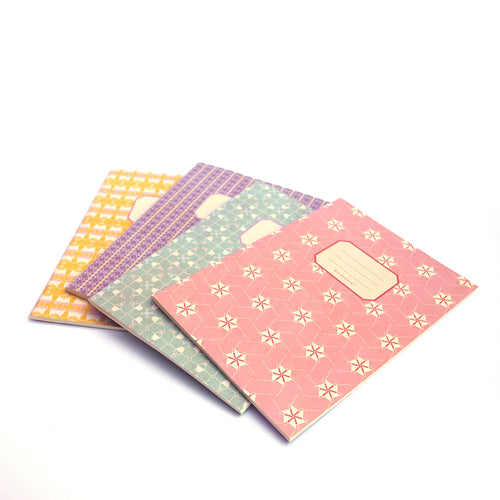 Beautiful exercise books in multiple patterns / colours
