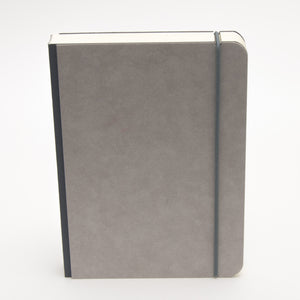 A5 minimalist notebook with closure strap in black