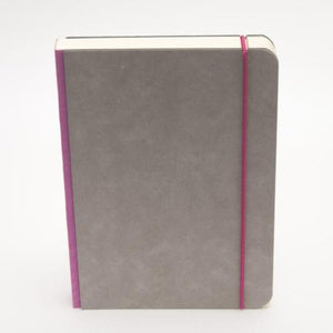 A5 minimalist notebook with closure strap in pink colour