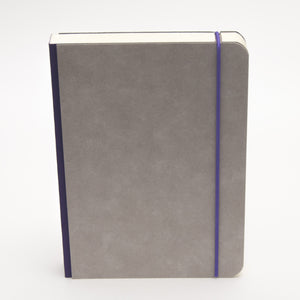 A5 minimalist notebook with closure strap in purple