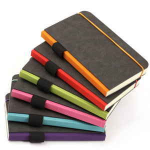 Contemporary Notebooks. A5 size in black, blue and purple.