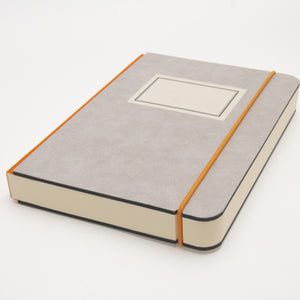 A5 minimalist notebook with label
