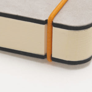 Close up of closure strap for the A5 notebook