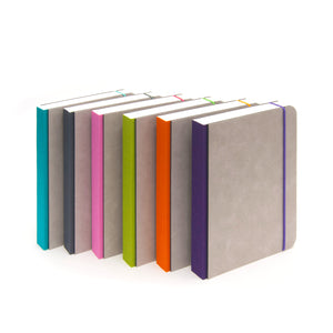 A5 minimalist notebook with closure strap in multi-colours