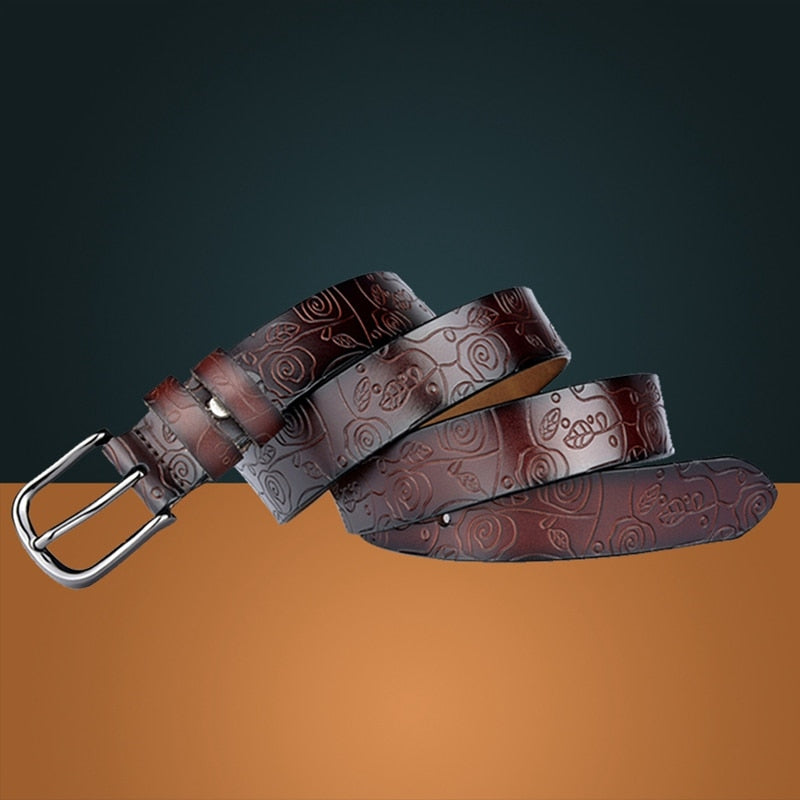 Floral Carved Belt