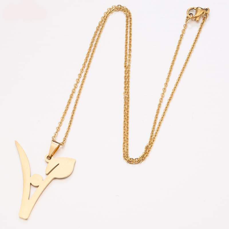 """V"" Leaf Necklace"