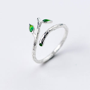 Tree Branch Vegan Open Ring