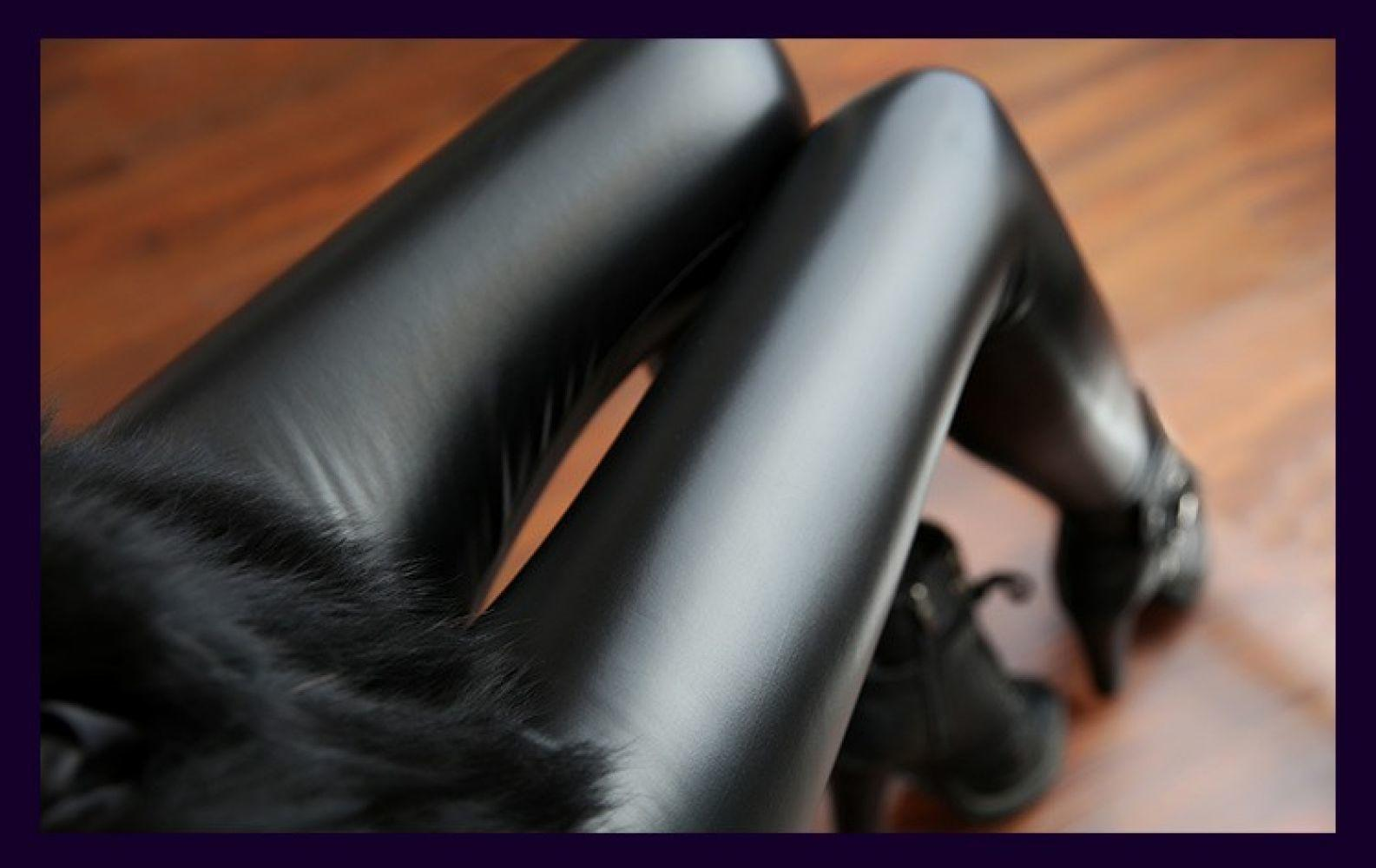 Stretchy PU Leather Leggings