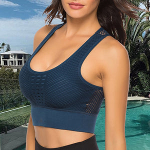 Hollow Mesh Sports Bra