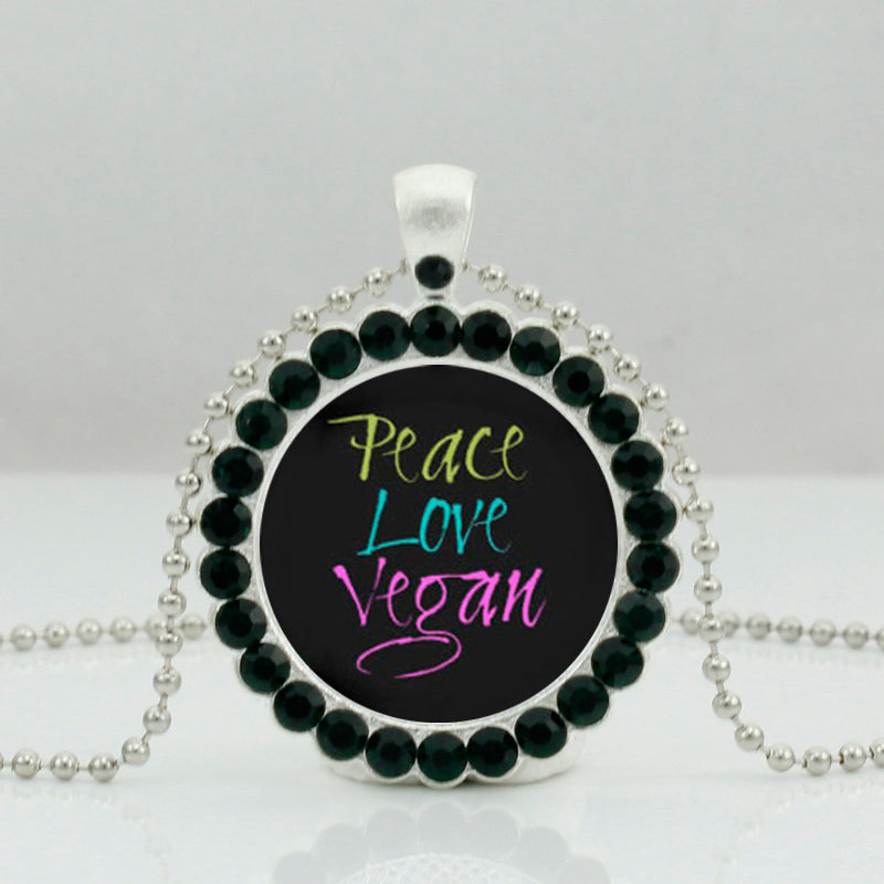Peace Love Vegan Necklace