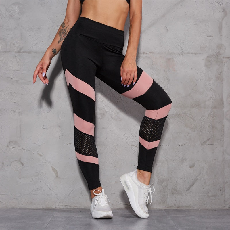 Patchwork Mesh Leggings