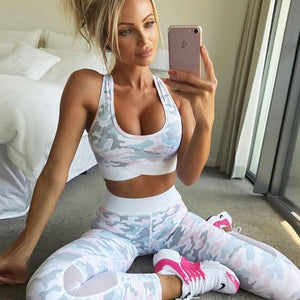 Mesh Camouflage Fitness Set
