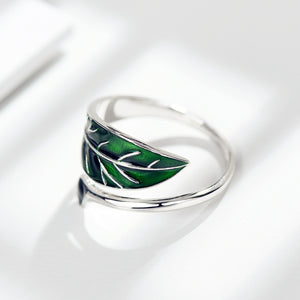 Wrap-Around Leaf Ring