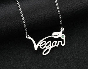 Green Stone Vegan Necklace