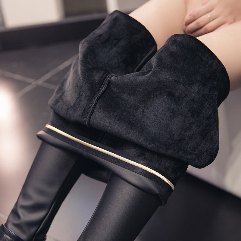 Warm Winter Leather Leggings