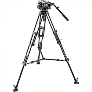 Manfrotto 509HD Video Head With 545B Tripod Legs, Mid-Spreader & A Padded Bag