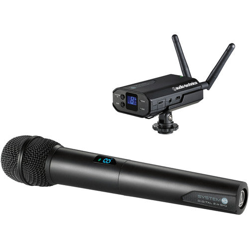 Audio-Technica System 10 - Camera-Mount Digital Wireless Microphone System with Handheld Mic