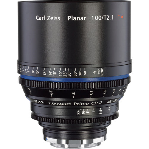 Zeiss Compact Prime CP.2 100mm/T2.1 CF Cine Interchangeable Mount Lens