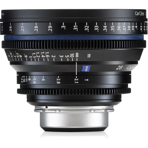 Zeiss Compact Prime CP.2 28mm/T2.1 Cine Lens with Interchangable Mounts - Metric