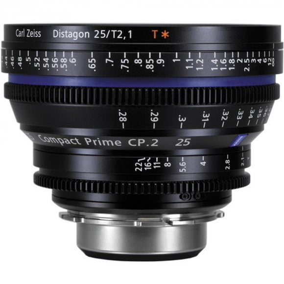 Zeiss CP.2 25mm T2.1 Compact Prime Interchangeable Mount Lens