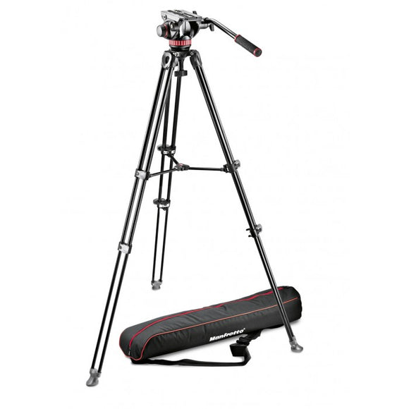 Manfrotto MVK502AM-1 Professional Fluid Video System/Aluminum/Telescopic Twin Leg