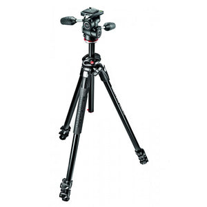 Manfrotto 290 Dual Aluminium 3-Section Tripod Kit With 804 3-Way Head (MK290DUA3-3W)