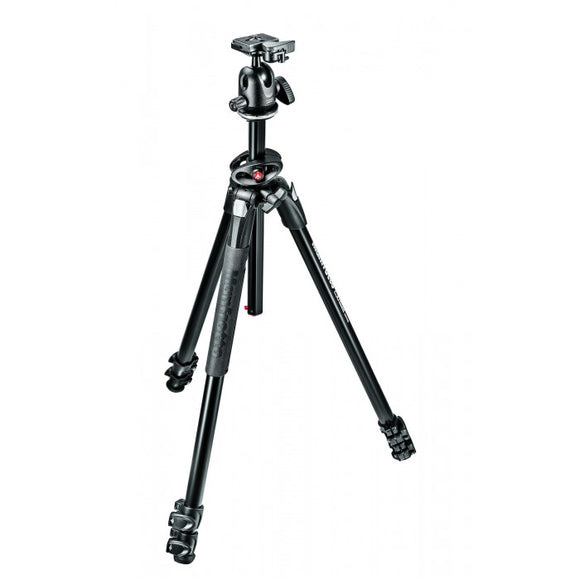 Manfrotto 290 Dual Alu 3-Section Tripod Kit With 496RC2 Ball Head (MK290DUA3-BH)