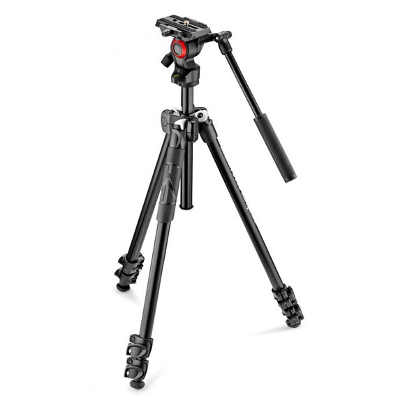 Manfrotto 290 Light Aluminium Tripod With Befree Live Fluid Video Head (MK290LTA3-V)