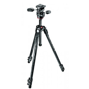 Manfrotto 290 XTRA CARBON Kit, CF 3 Sec. Tripod With 3W Head (MK290XTC3-3W)